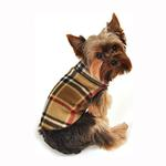 View Image 2 of Blanket Plaid Dog Pullover - Camel