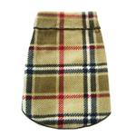 View Image 1 of Blanket Plaid Dog Pullover - Camel
