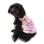 View Image 2 of Bling it On Sequin Tank Dog Dress by Oscar Newman - Purple