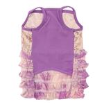 View Image 4 of Bling it On Sequin Tank Dog Dress by Oscar Newman - Purple