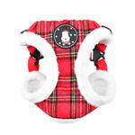 View Image 1 of Blitzen Adjustable Step-In Dog Harness by Puppia - Red Plaid