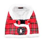 View Image 1 of Blitzen Dog Harness Vest By Puppia - Red Plaid
