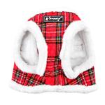 View Image 2 of Blitzen Dog Harness Vest By Puppia - Red Plaid