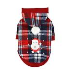 View Image 1 of Blitzen Hooded Dog Shirt by Puppia - Checkered Red