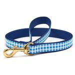 View Image 1 of Blue Gingham Dog Leash by Up Country