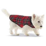 View Image 2 of Red Plaid Fleece-Lined Dog Coat by Up Country