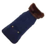 View Image 1 of Blue Velvet Dog Coat by Up Country