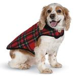 View Image 3 of Red Plaid Fleece-Lined Dog Coat by Up Country