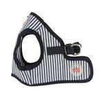 View Image 3 of Bobby Dog Harness Vest by Puppia - Striped Navy