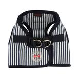 View Image 1 of Bobby Dog Harness Vest by Puppia - Striped Navy
