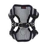 View Image 2 of Bobby Adjustable Step-In Dog Harness by Puppia - Striped Navy