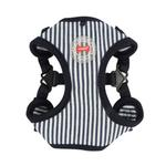 View Image 1 of Bobby Adjustable Step-In Dog Harness by Puppia - Striped Navy