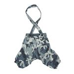 View Image 1 of Bobby Dog Suspender Pants by Puppia - Navy Camo