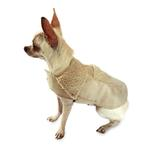 View Image 1 of Boho Faux Suede Shearling Dog Coat - Sand