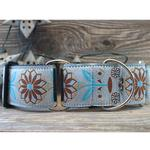 View Image 2 of Boho Morocco Wide Martingale Dog Collar by Diva Dog