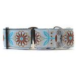 View Image 1 of Boho Morocco Wide Martingale Dog Collar by Diva Dog
