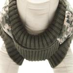View Image 2 of Bomber Camo Dog Vest - Green Trim