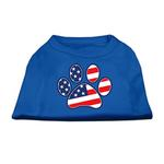 View Image 1 of Patriotic Paw Dog Tank Top - Blue