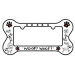 View Image 1 of Bone Shaped License Plate Frame - Woof Woof