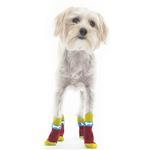 View Image 1 of Bone Slipper Dog Socks - Red