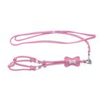 View Image 1 of Bone Step-In Dog Harness by Cha-Cha Couture - Matte Light Pink