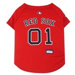 View Image 1 of Boston Red Sox Officially Licensed Dog Jersey - Red