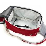 View Image 5 of Boxy Messenger Bag Dog Carrier by Dogo - Red