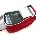 View Image 3 of Boxy Messenger Bag Dog Carrier by Dogo - Red