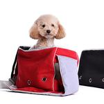 View Image 2 of Boxy Messenger Bag Dog Carrier by Dogo - Red