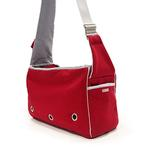 View Image 1 of Boxy Messenger Bag Dog Carrier by Dogo - Red