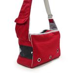 View Image 4 of Boxy Messenger Bag Dog Carrier by Dogo - Red