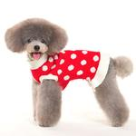 View Image 4 of Bubble Dot Dog Sweater Dress by Dogo - Red
