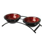 View Image 1 of Buddy's Best Feeder Pet Diner Set - Fire Red