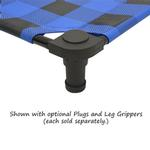 View Image 2 of Buffalo Check Premium Weave Dog Cot - Blue and Black