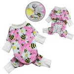 View Image 2 of Bumblebee and Flowers Ultra Soft Dog Pajamas by Klippo