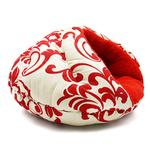 View Image 4 of Burger Pet Bed by Dogo - Red Floral