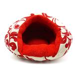 View Image 3 of Burger Pet Bed by Dogo - Red Floral