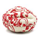 View Image 5 of Burger Pet Bed by Dogo - Red Floral