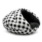 View Image 2 of Burger Pet Bed by Dogo - Checkers Black