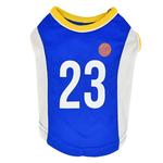View Image 1 of Buzzer Beater Basketball Dog Jersey by Puppia - Royal Blue
