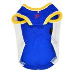View Image 2 of Buzzer Beater Basketball Dog Jersey by Puppia - Royal Blue