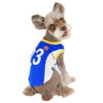 View Image 4 of Buzzer Beater Basketball Dog Jersey by Puppia - Royal Blue