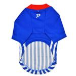 View Image 2 of Striker Soccer Dog Jersey by Puppia - Royal Blue