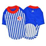 View Image 3 of Striker Soccer Dog Jersey by Puppia - Royal Blue