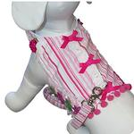 View Image 1 of Cabana Girl Dog Harness Vest w/Leash by Cha-Cha Couture