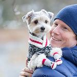 View Image 3 of Cabin Dog Sweater by RC Pet - Black Melange