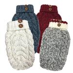 View Image 2 of Cable Knit Dog Sweater by foufou Dog - Red