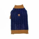 View Image 1 of Cable N Bitz Dog Sweater - Navy