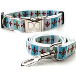 View Image 1 of French Quarter Dog Collar and Leash Set by Diva Dog
