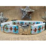 View Image 2 of French Quarter Dog Collar and Leash Set by Diva Dog